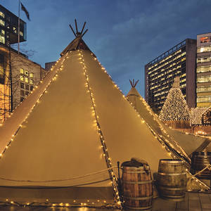 Christmas with the curious teepee